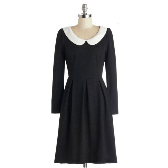 Black Dress with White Collar XL NWT